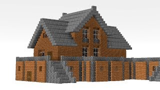 MINECRAFT: How to build a Small Mansion