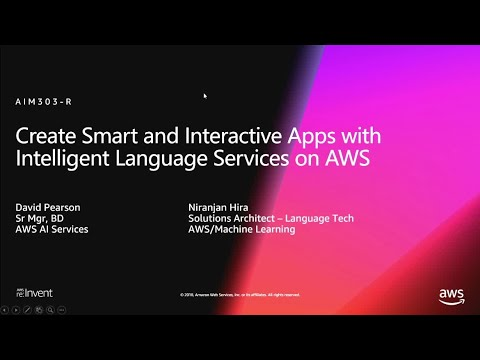 AWS re:Invent 2018 List of presentation materials and videos of