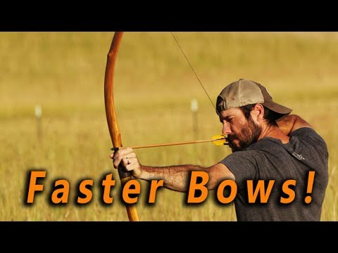 How to build a faster Self bow - design and reflex, recurve, DIY bow making