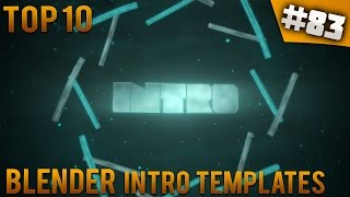 TOP 10 Blender intro templates #83 (Free download)