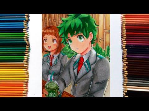 Speed Drawing - Midoriya Izuku & Uraraka Ochako (Boku No Hero Academia/My Hero Academia 僕のヒーローアカデミア)