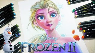 Drawing Frozen2 _ Elsa (Disney Princess Frozen) DP Art drawing