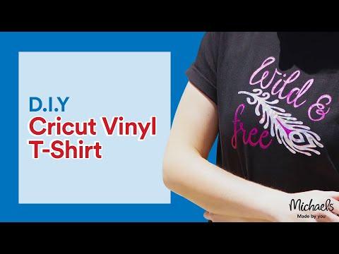 ea21a2f2 Vinyl T-Shirt with a Cricut | Michaels - YouTube