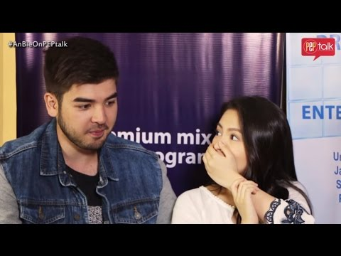 Andre Paras and Barbie Forteza on PEP TALK. Andre reveals something to Barbie