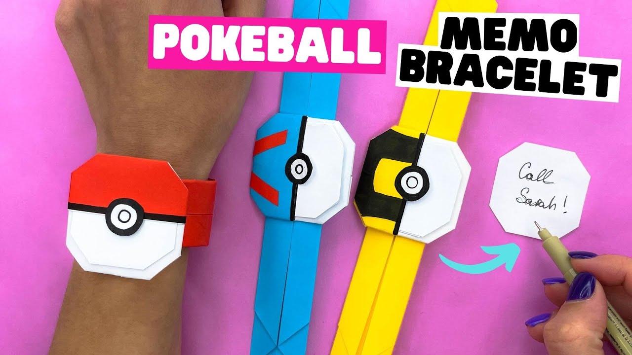 How to make ORIGAMI PAPER BRACELET EASY [origami Pokeball]   Full Video