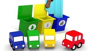 Lehrreicher Zeichentrickfilm - Die 4 kleinen Autos - Wir räumen den Spielplatz auf