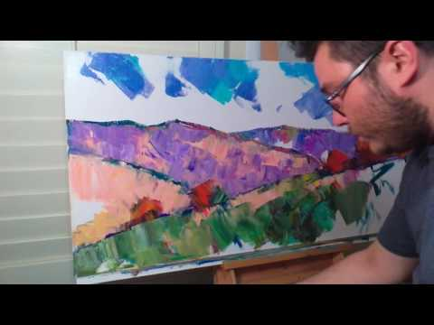 JOSE TRUJILLO Impressionist Oil Painting Demo – Large Painting Session