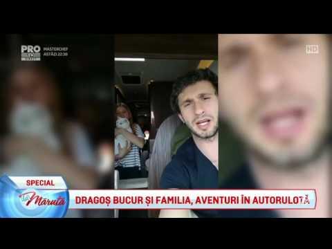 Dragos Bucur si familia, cu autorulota prin lume