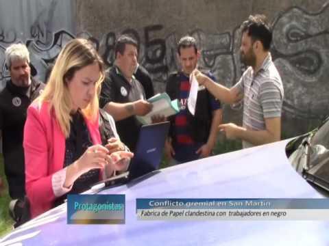 Papeleros de San  Martín se movilizaron en defenza de empleados