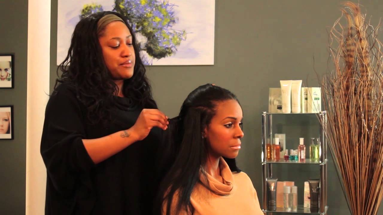 How To Apply Long Hair Weave Styles Hair Styling Tips Youtube