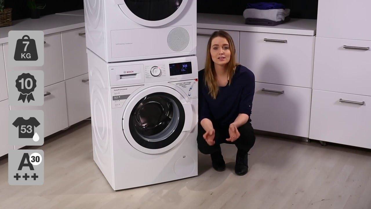 bosch i dos wat286i7sn vaskemaskine youtube. Black Bedroom Furniture Sets. Home Design Ideas