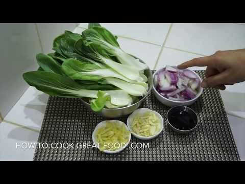 how to get sand out bok choy chinese