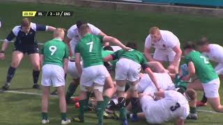 Match Highlights: England v Ireland | U18 Six Nations Festival