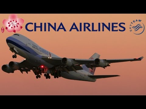 HD China Airlines Cargo Boeing 747-409F B-18722 Takeoff from San Francisco International Airport