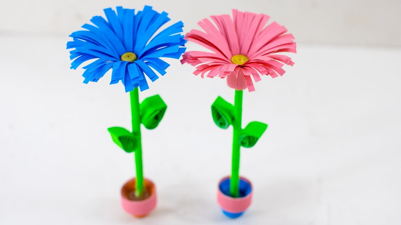 Diy Paper Quilling Flower Pot Mini Flower Pot With Origami Paper