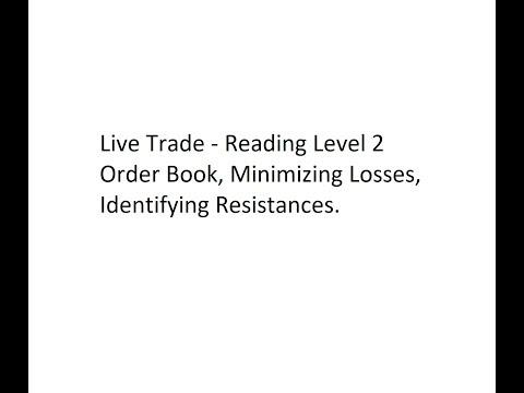 Live Trade - Reading Level 2 Order Book, Minimizing Losses, Identifying Resistances.