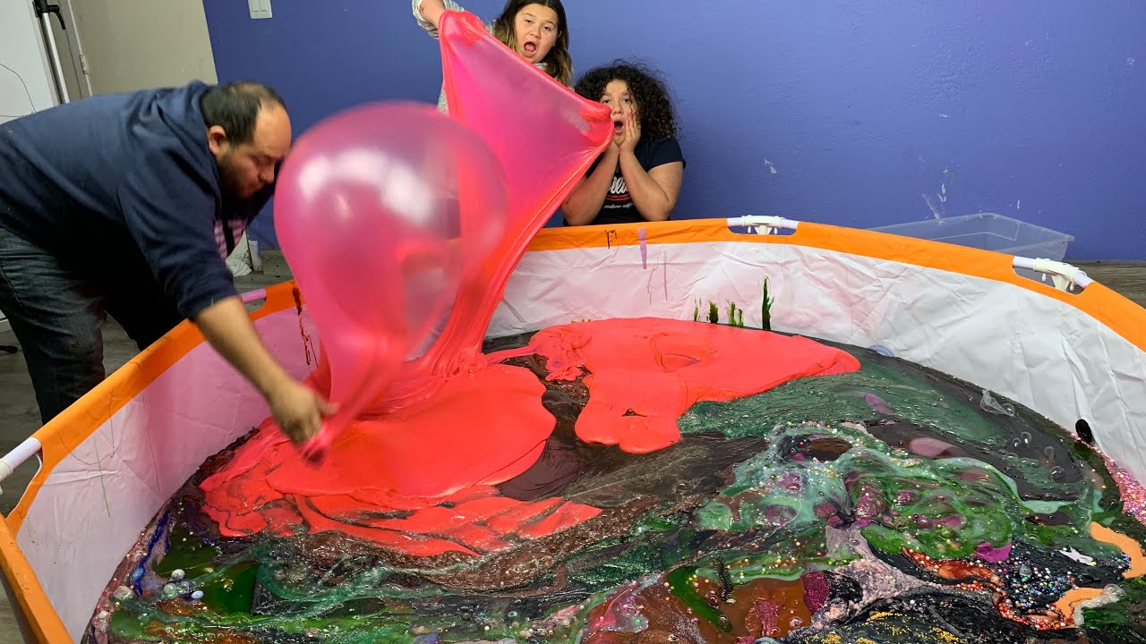 Slime Master Mary And Izzy: Mixing All Our Giant Slimes 1,000+ Pounds Of Slime
