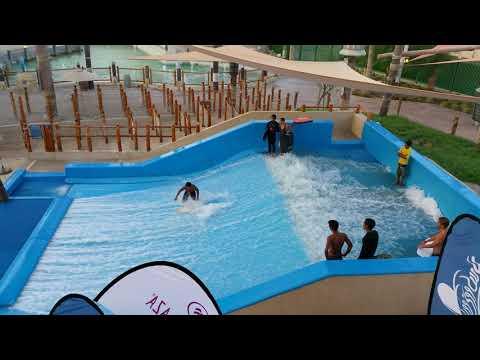 Best riders on the FlowRider Flow Barrel at Yas Waterworld Waterpark in Abu Dhabi Dubai UAE(3)