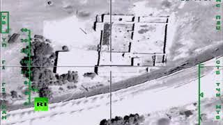 Видеокадры ударов ВКС России по иностранным наёмникам, прибывшим на территорию ИГ