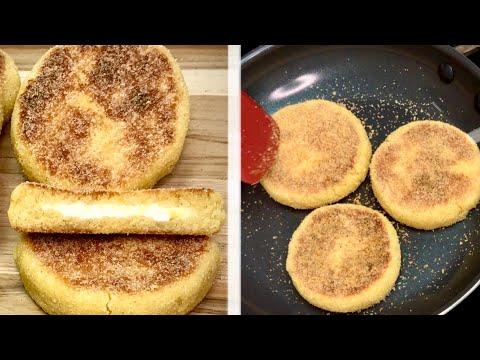 petites-galettes-de-semoule-au-fromage-cuites-à-la-poêle-(harcha)🍳prêtes-en-quelques-minutes-⏱