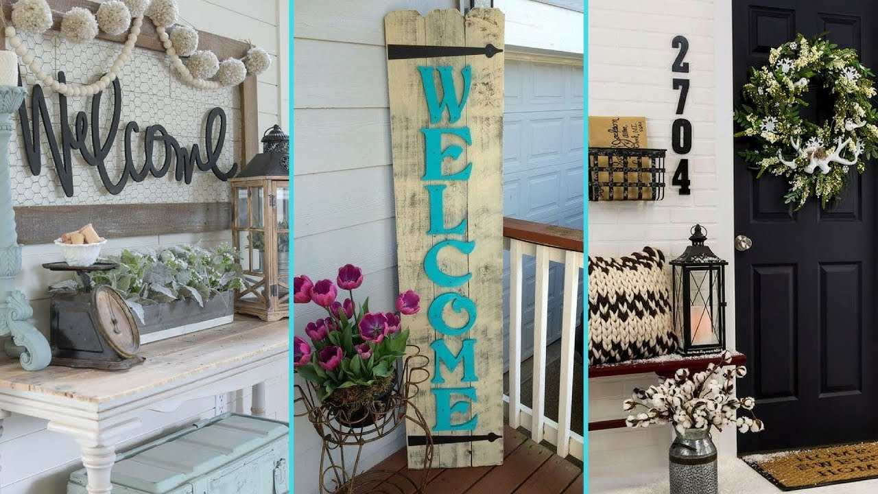 Diy Shabby Chic Style Front Porch Welcome Signs Home Decor Interior Design Flamingo Mango