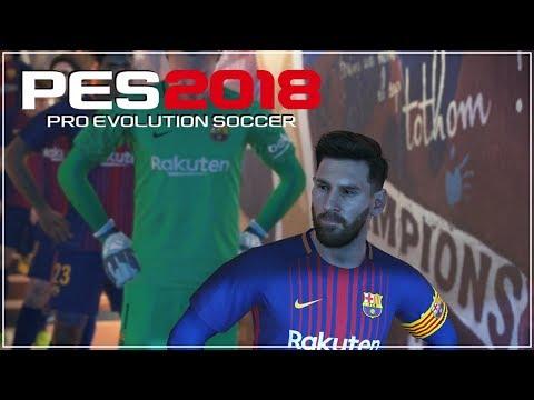 PES 2018 Demo: FC Barcelona vs Liverpool (Bahasa Indonesia)