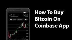 How To Buy Bitcoin On Coinbase Mobile App - Iphone 11
