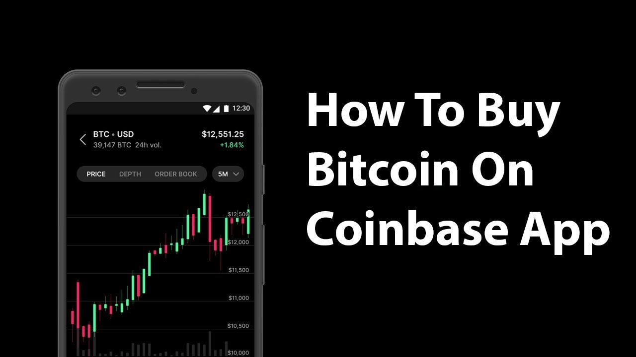 how to buy bitcoin in coinbase app