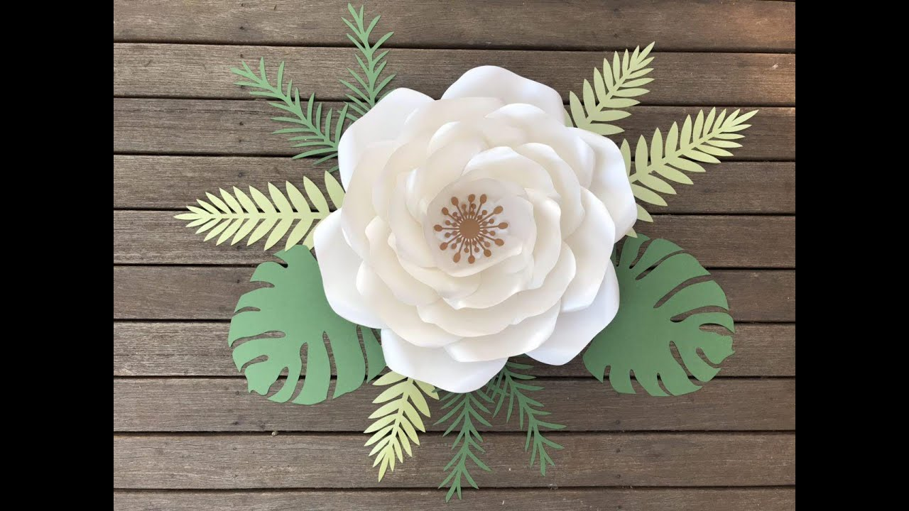 AnaVictoria paper flower video DIY tutorials by PaperProTutorials / how to make a paper flower