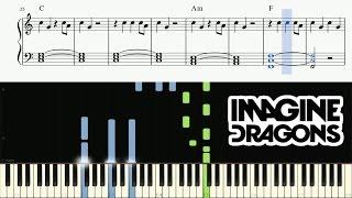 Imagine Dragons - Thunder - EASY Piano Tutorial + SHEETS