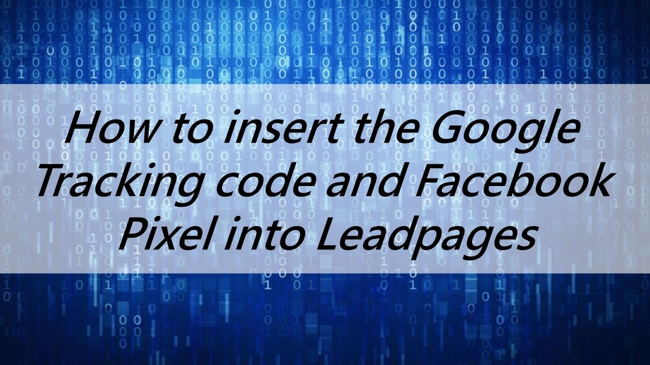 Facebook Pixel On Leadpages Can Be Fun For Anyone