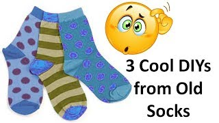 3 Awesome and creative ways to reuse or recycle old socks | Learning Process