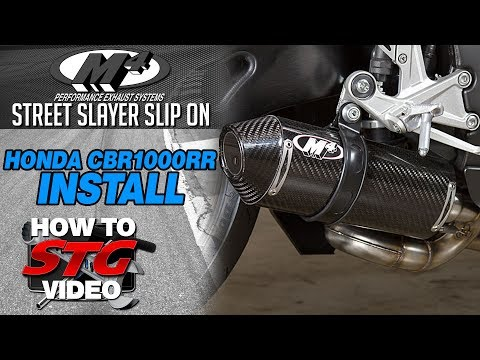 How to Install M4 Full Exhaust on Honda CBR1000RR by Sportbiketrackgear.com