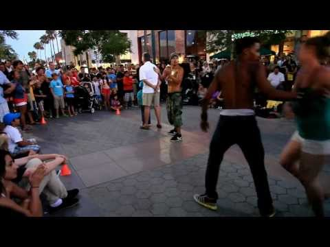 street hiphop dancer @ 3rd street promenade,Santa Monica,california.