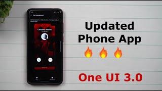 Samsung's Updated Phone App - Samsung One UI 3.0