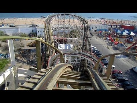 Cyclone front seat on-ride HD POV Luna Park, Coney Island