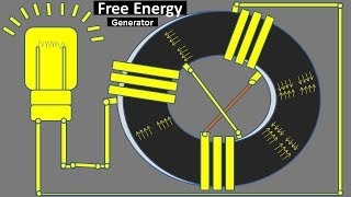 How to make a magnet generator with a light bulb