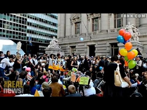 Thousands Protest On Occupy Wall Street's One Year anniversary
