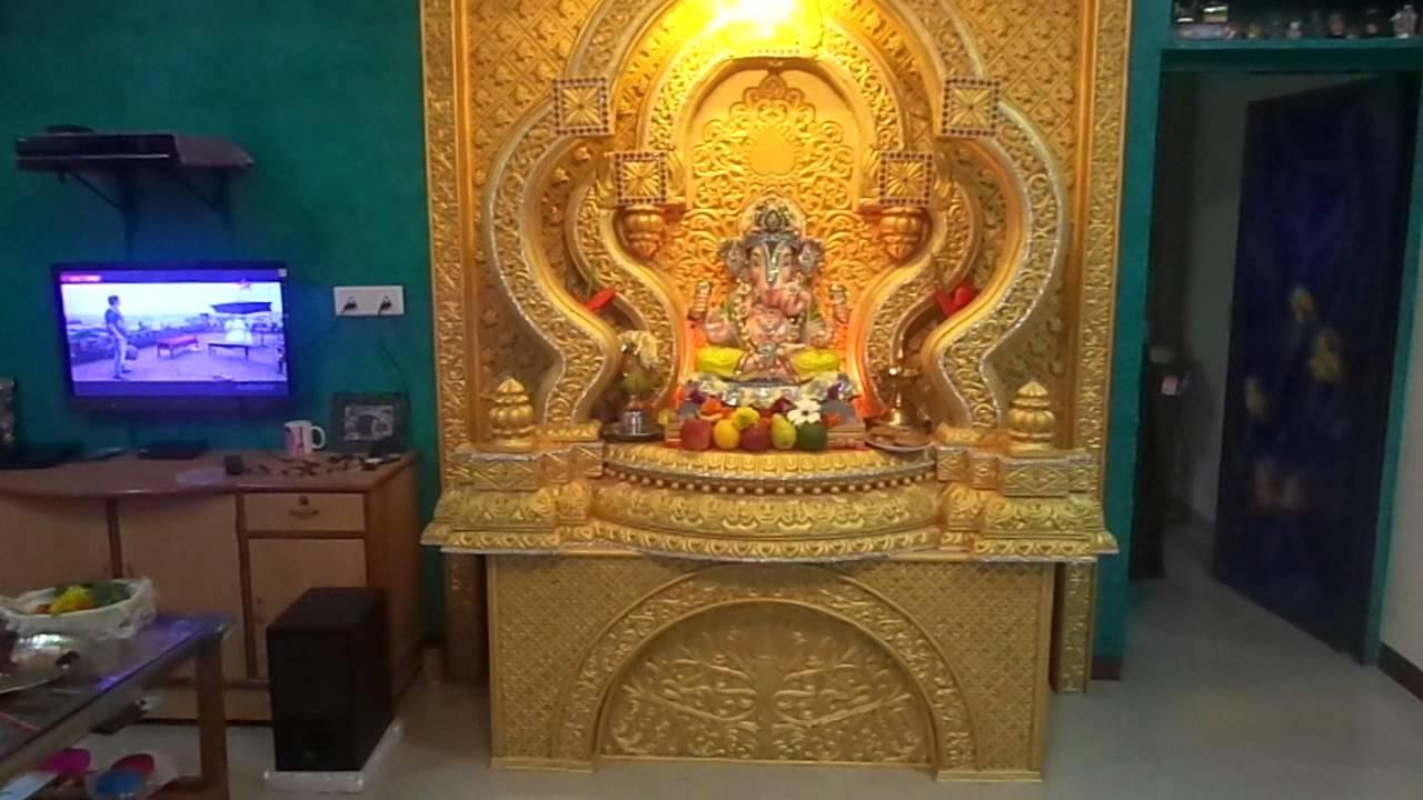 Wall Decoration Ideas For Ganpati : Ganpati decoration ramchandra mhatre