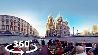 Экскурсия по рекам и каналам Санкт-Петербурга | Видео 360 | Video 360 degrees
