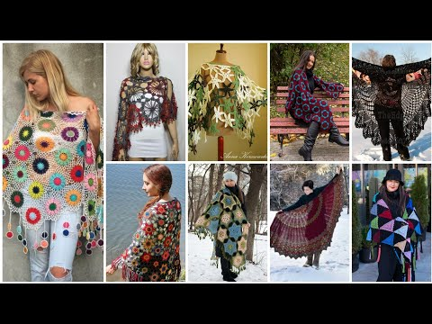 Trendy And Stylish Crochet Doily patterns CAPLET Top And Shawl Designs