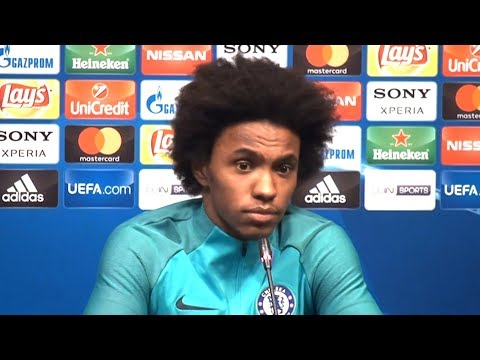 Willian Full Pre-Match Press Conference - Barcelona v Chelsea - Champions League