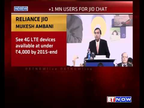 RIL 41st AGM: Mukesh Ambani On Reliance Jio, Jio Chat, Net N