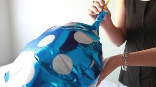 Partysaurus - Cara meniup balon foil tanpa helium / pompa