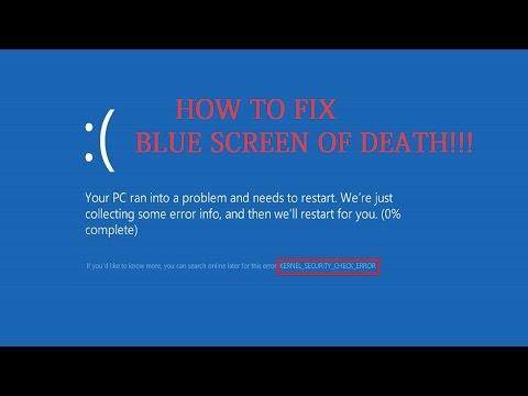 KERNEL SECURITY CHECK FAILURE PERMANENT FIX !! ( Windows 8 & 10 )
