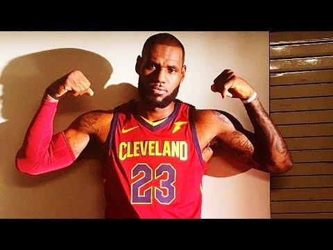 LeBron James Wears New Cavaliers Nike Jerseys For 2017-2018 NBA Season