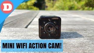 Quelima SQ13 Review, Unboxing & Setup - Mini Wifi Action Cam!