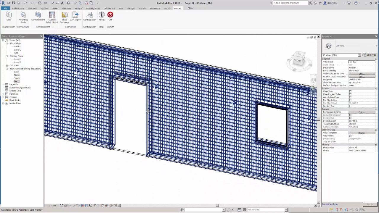 Extension pour la Préfabrication Béton sous Revit