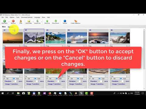 How to create a slideshow as a standalone exe with EXE Slideshow Maker 4dots