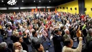 La Internacional al final del XVIII Congreso del PCE